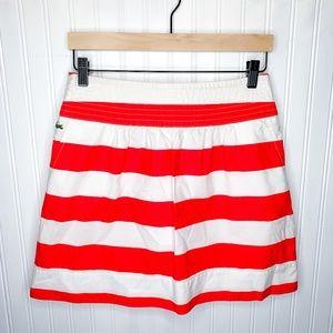 Lacoste Coral Striped Mini Skirt
